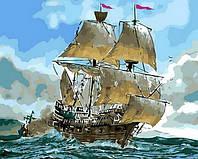 Картина по номерам Mariposa Сражение кораблей (MR-Q553) 40 х 50 см