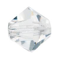Хрустальные биконусы Preciosa (Чехия) 3 мм Crystal 2-й сорт