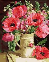 Раскраска на холсте Mariposa Букет из маков и акации Худ Коттерил Анне (MR-Q996) 40 х 50 см