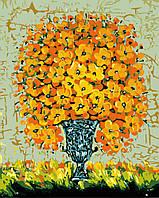 Картина раскраска по номерам без коробки Солнечный букет (BK-GX8095) 40 х 50 см