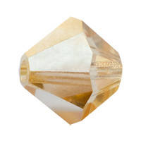 Хрустальные биконусы Preciosa (Чехия) 3 мм Crystal Blond Flare