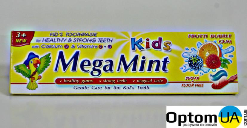 Mega Mint Kids дитяча зубна паста Frutti Bubble 50мл , фото 2