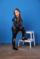 Спортивная кофта в мазках краски синего и белого цвета, девочка, черный,синий, белый 161MIFC003 MEK, Италия