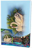 """Набор для творчества Вышивка гладью, картина на подрамнике """"Лебеди"""""""