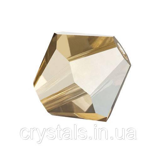 Хрустальные биконусы Preciosa (Чехия) 4 мм Crystal Golden Flare