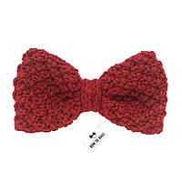 Bow Tie House™ Бабочка вязаная спицами красная - ручная работа - стандартная форма