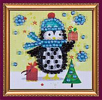 Набор для вышивки бисером мини-магнита Подарки Деда Мороза АММ-030