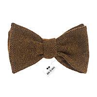 Bow Tie House™ Галстук-бабочка шерстяная в елочку - коричневая