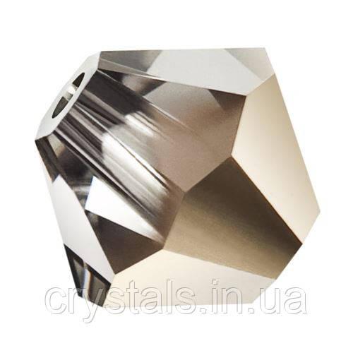 Хрустальные биконусы Preciosa (Чехия) 4 мм Crystal Starlight Gold