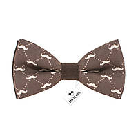 Bow Tie House™ Бабочка темно-коричневая с усами Hipster Style