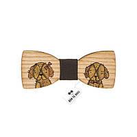 Bow Tie House™ Бабочка детская щенок в бабочке - коричневая