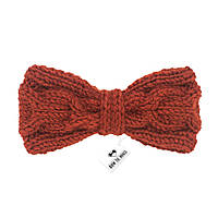 Bow Tie House™ Бабочка вязаная спицами терракотового цвета - ручная работа - с узором