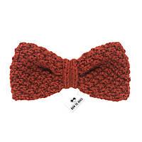 Bow Tie House™ Бабочка вязаная спицами терракотового цвета - ручная работа - стандартная форма