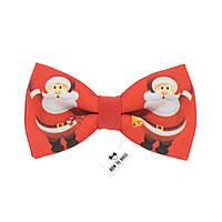 Bow Tie House™ Бабочка красная с дедом морозом