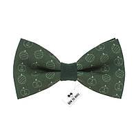 Bow Tie House™ Бабочка зеленая новогодними игрушками