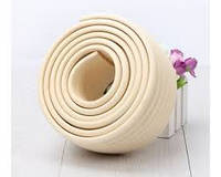 Лента защитная на торцы углы мебели, ребристая. Беж., фото 1