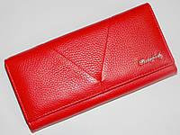 Женский кожаный кошелек Bodenfendy красного цвета