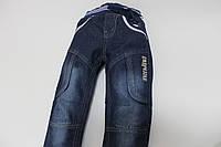 Стильные утепленные джинсы свободного кроя для мальчиков, фото 1