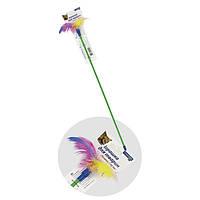 Игрушка для котов Палочка с перьями ТМ Природа 50см
