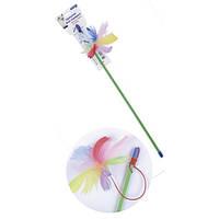 ТМ Природа игрушка для котов Палочка с перьями на резинке
