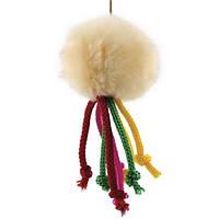 Игрушка для котов Мячик меховой на резинке ТМ Природа 5см