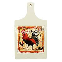 Доска для нарезки сувенирная «Петух», 32х18, 15х15 см.