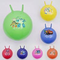 Мяч для фитнеса 466-533 (60) с рожками, перламутр, 7 цветов, 55см, 550гр