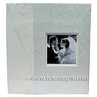 Фотоальбом Свадебный серебристый MEGA  (альбом для фотографий) 50 листов под скотч уголок. 400 фото10х15см.