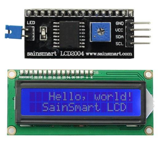 ЖК LCD 1602 16х2 модуль с припаянным i2c модулем