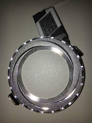 Светодиодная панель Lemanso LM 484 5W 4500K круглый. алюминий, хром Код.57875, фото 2