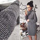 Женское стильное вязанное платье-туника (5 цветов), фото 7