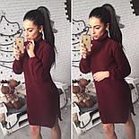 Женское стильное вязанное платье-туника (5 цветов), фото 10