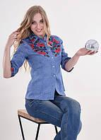 Женская вышиванка рубашка Макова грация