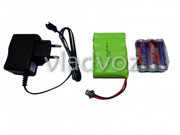 Комплектация джипа на радиоуправлении Rock Crawler краcного цвета: