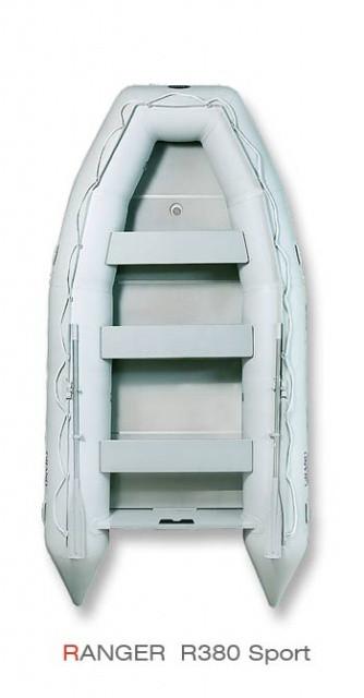 Надувная лодка Grand Marine RANGER R380 с жестким дном и надувным килем