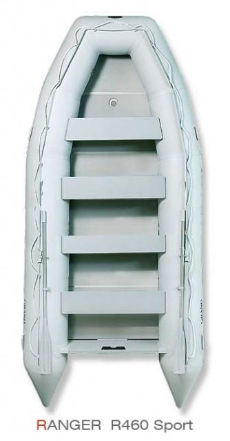 Надувная лодка Grand Marine RANGER R460 с жестким дном и надувным килем
