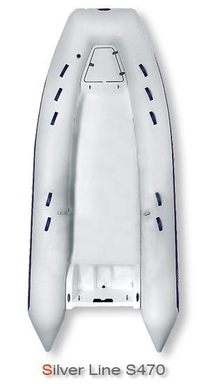 Надувная лодка Grand Marine SILVER LINE Riders S470 с жестким корпусом (RIB) - Интернет-магазин Аквамарин в Одессе