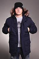 Куртка парка мужская зимняя молодежная Node Alaska winter parka navy
