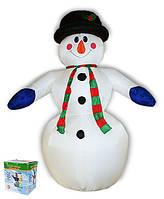 Надувная фигура Снеговик 240 см, светящийся