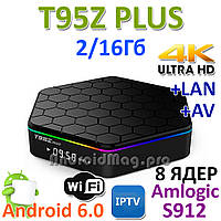 T95Z Plus Amlogic S912 ТВ бокс 8 ядер 2/16Gb Android 6.0