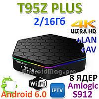 T95Z Plus Amlogic S912 ТВ бокс 8 ядер 2/16Gb Android 6.0