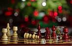 Шахматы-нарды-шашки 3 в 1 ** Новогодние **