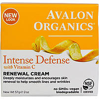 Avalon Organics, Крем Intense Defence Renewal Cream с витамином C 57г