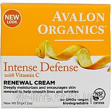 Avalon Organics, Крем Intense Defence Renewal Cream с витамином C 57г