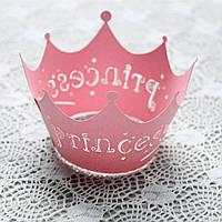 """Формы-декор для украшения кексов/капкейков/маффинов """"Princess"""" (12 шт.), можно использовать многоразово"""