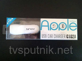 Автомобильное зарядное устройство ARUN C102A USB Car
