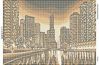 Схема для вышивки бисером Ночной город (золото) БС-2013