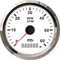 KUS WS Тахометр/счетчик моточасов для лодочного мотора 0-6000RPM