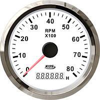 KUS WS Тахометр/счетчик моточасов для лодочного мотора 0-8000RPM