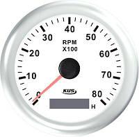 KUS WW Тахометр/счетчик моточасов для лодочного мотора 0-8000RPM